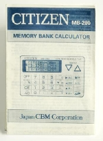 Citizen MB-280 Manual